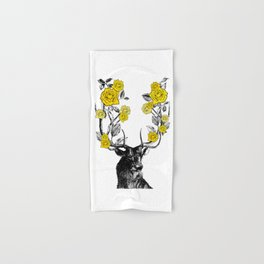 The Stag and Roses | Yellow Hand & Bath Towel