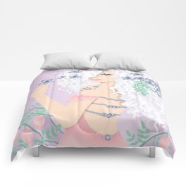 Pretty Floral Girl Comforters