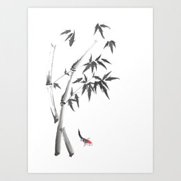Leaves or Fishes? Art Print