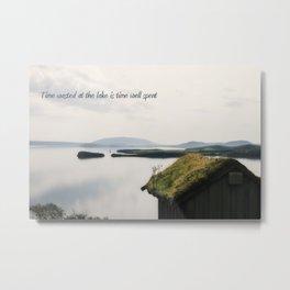 Time Spent at The Lake Metal Print