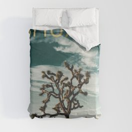Joshua Tree Poster Comforters