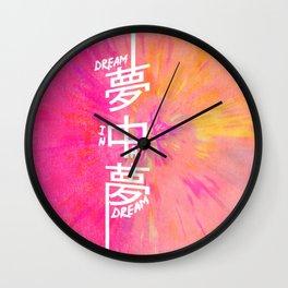 DREAM IN A DREAM Wall Clock