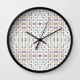 Interrupted Rainbow - a subtle rainbow of colors Wall Clock