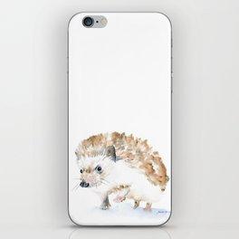 Hedgehog Watercolor iPhone Skin