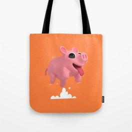 Rosa the Pig Jumping Tote Bag
