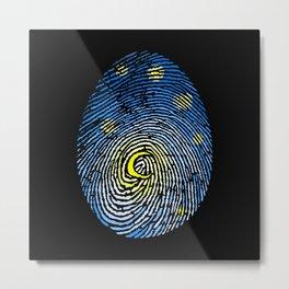 Aurora Fingerprint Metal Print
