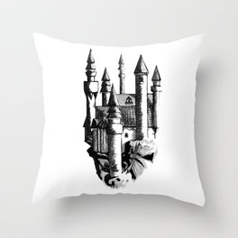 Sky Castle Throw Pillow