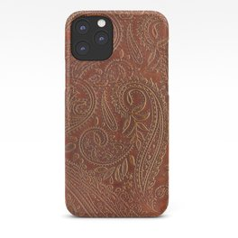 Rusty Tooled Leather iPhone Case