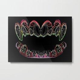 Show Me Your Teeth Metal Print