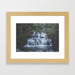 Waterfalls in Catlins National Park Framed Art Print