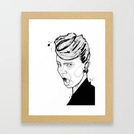 Blaaah Framed Art Print