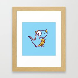 cutie monster_02_bis Framed Art Print