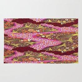 Intricate Yuzen Pattern Rug