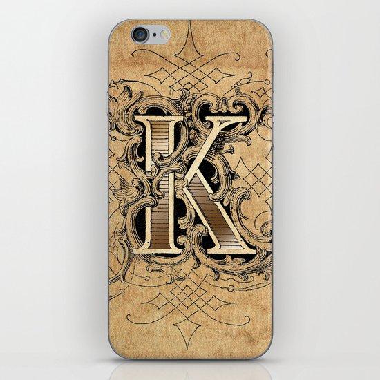 monogram k iPhone & iPod Skin
