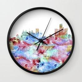Detroit City Skyline Michigan Wall Clock