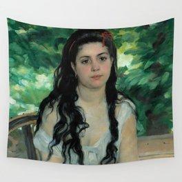 """Auguste Renoir """"En été - La bohémienne (In summer - Gypsy woman)"""" Wall Tapestry"""