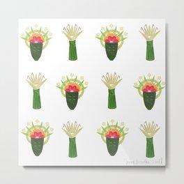 Palm Leaf and Flower Offerings Metal Print
