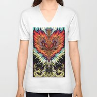 third eye V-neck T-shirts featuring Third Eye by FractalFox