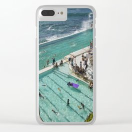Icebeg's pool Bondi Beach. Clear iPhone Case