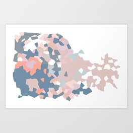 love the world to pieces pinks and grays Art Print