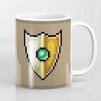 shield Mugs featuring Shield by HOVERFLYdesign