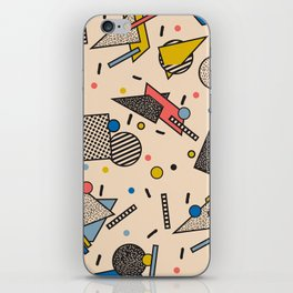 Memphis Inspired Pattern 7 iPhone Skin