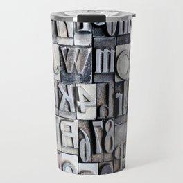 Letterpress Travel Mug