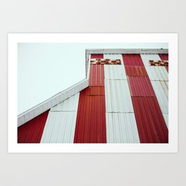 Red Pattern Art Print
