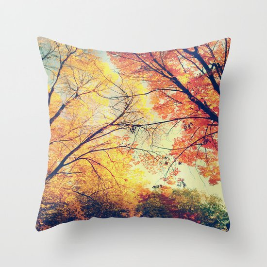 Autumn Embrace Throw Pillow
