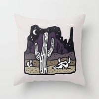 arizona Throw Pillows featuring Arizona by WEAREYAWN