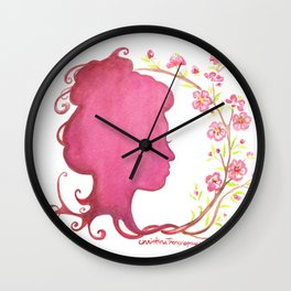 Spring Silhouette Wall Clock