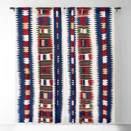 Kazak Southwest Caucasus Kilim Blackout Curtain