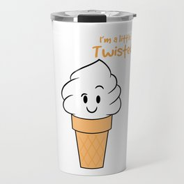 """""""I'm A Little Twisted"""" cute and adorable ice cream tee design. Makes the cutest gift this holiday!  Travel Mug"""