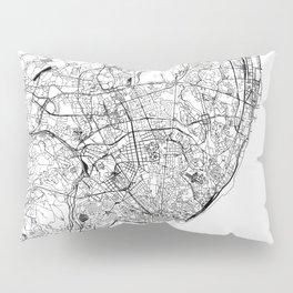 Lisbon White Map Pillow Sham