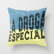 DROGAS Throw Pillow