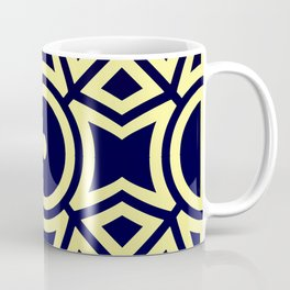 Composition in Texas Yellow and Stratos Blue Coffee Mug