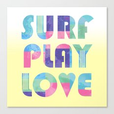 Surf Play Love Canvas Print