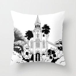 Nagasaki - Oura Church Throw Pillow