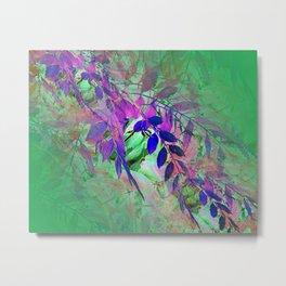 Leaf Illusion 1 Metal Print