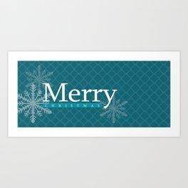 Teal Merry Christmas Mug Art Print