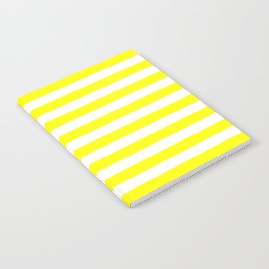 Horizontal Stripes (Yellow/White) Notebook