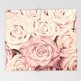 Some people grumble I Floral rose roses flowers pink Throw Blanket