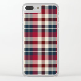 Holiday Plaid 25 Clear iPhone Case