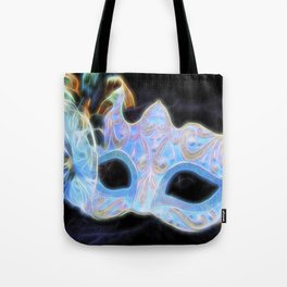 Glowing Mask Of Intrigue Tote Bag