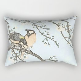 Birds and blossoms Rectangular Pillow