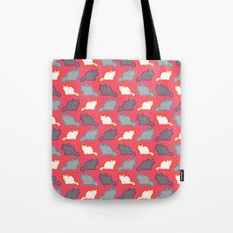 Cute cat pattern in pink Tote Bag