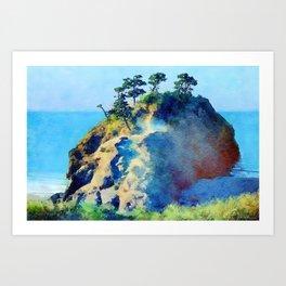 Oregon coast rocks Art Print
