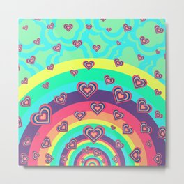 Loving the Rainbow Metal Print