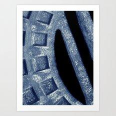 blue steel Art Print