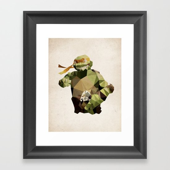 Polygon Heroes - Michelangelo Framed Art Print